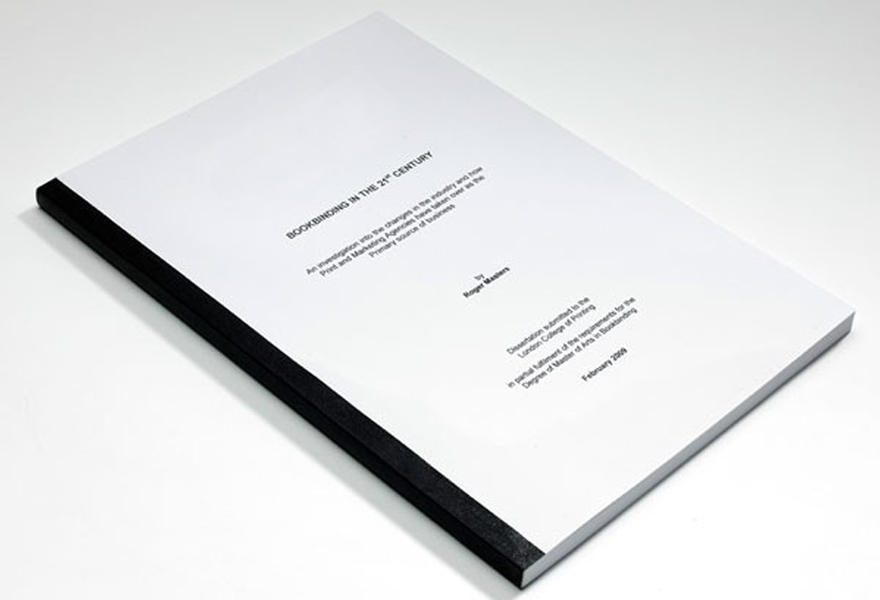 dissertation hard binding manchester